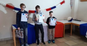 Vorlesewettbewerb Französisch Drei Jungen machen…