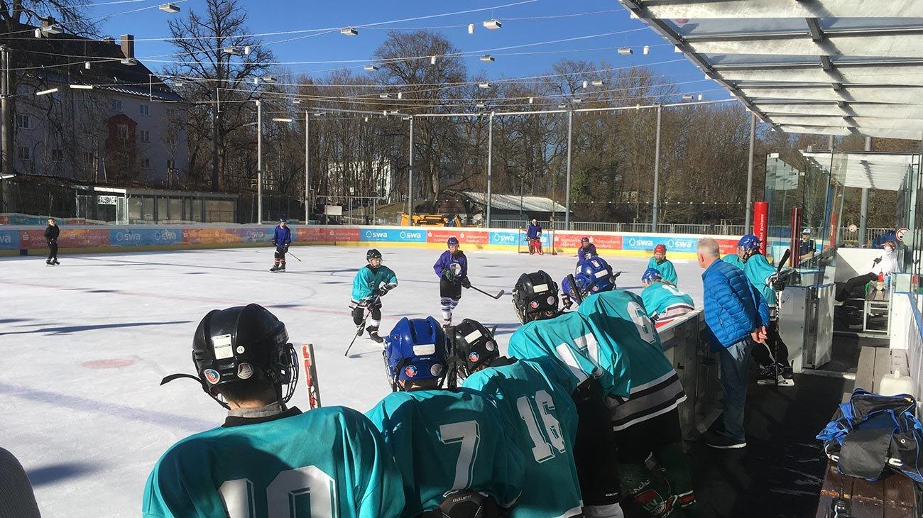 Knapp an der Sensation vorbei geschrammt: Unser Holbein-Eishockeyteam