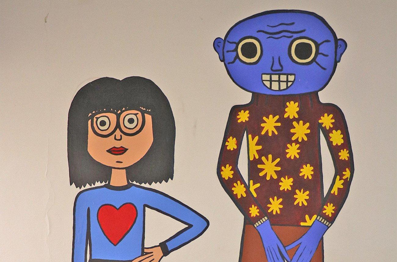 Wandmalerei von unseren Schülern