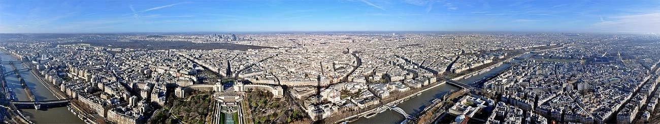 Panorama von Paris (vom Eiffelturm aufgenommen)